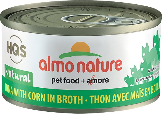 Almo Nature Legend 100% Natural Tuna with Corn Adult Grain-Free Canned Cat Food, 2.47-oz