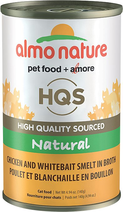 Almo Nature Legend 100% Natural Chicken with Whitebait Grain-Free Canned Cat Food, 4.94-oz
