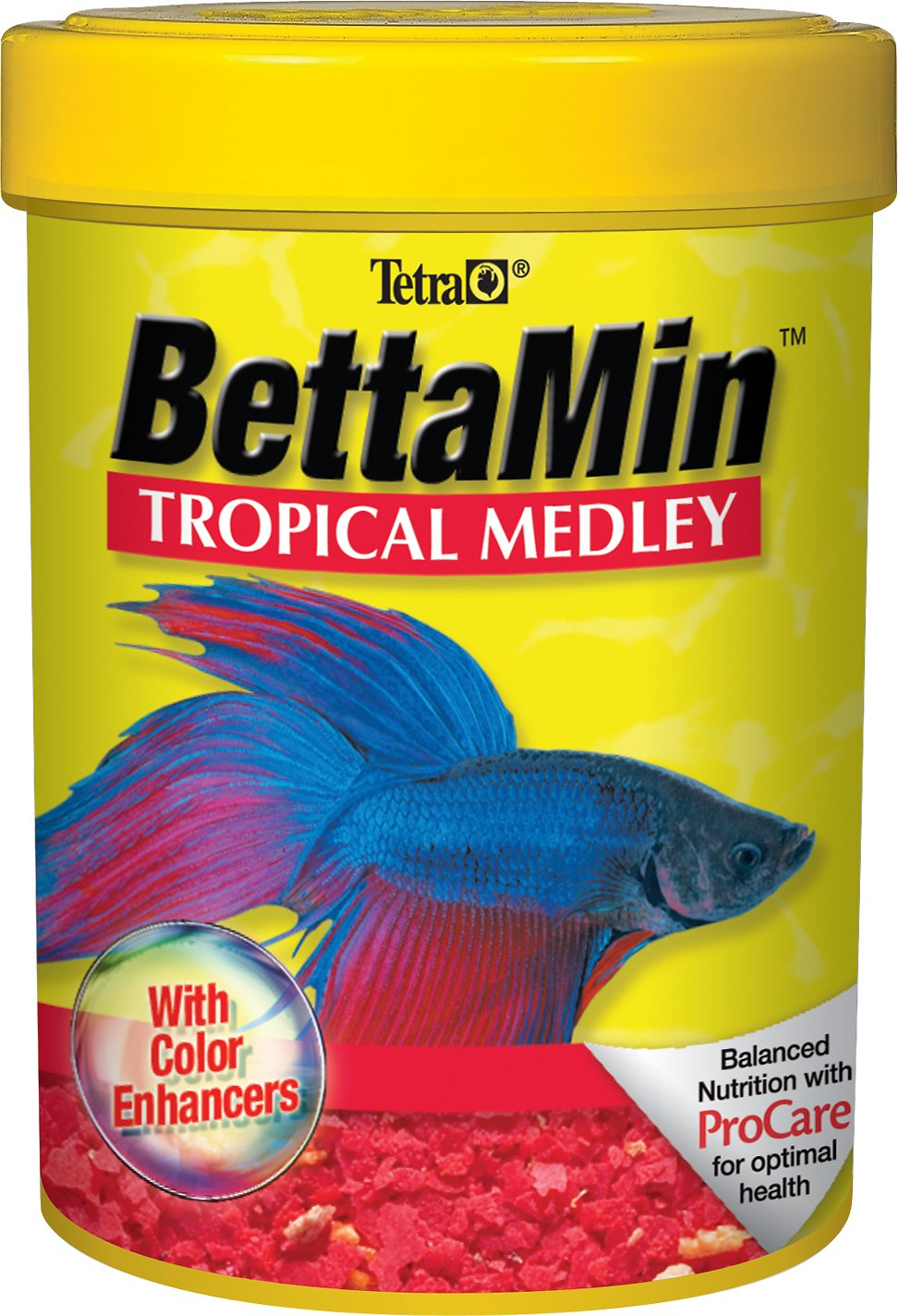 Tetra BettaMin Tropical Medley Color Enhancing Fish Food, .81-oz jar