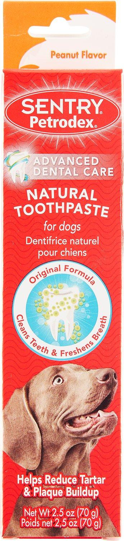 Sentry Petrodex Veterinary Strength Natural Peanut Flavor Dog Toothpaste, 2.5-oz tube