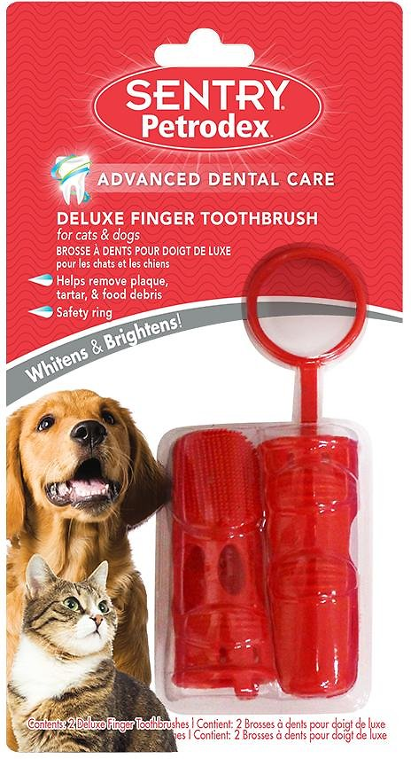 Sentry Petrodex Deluxe Finger Toothbrush for Dogs & Cats