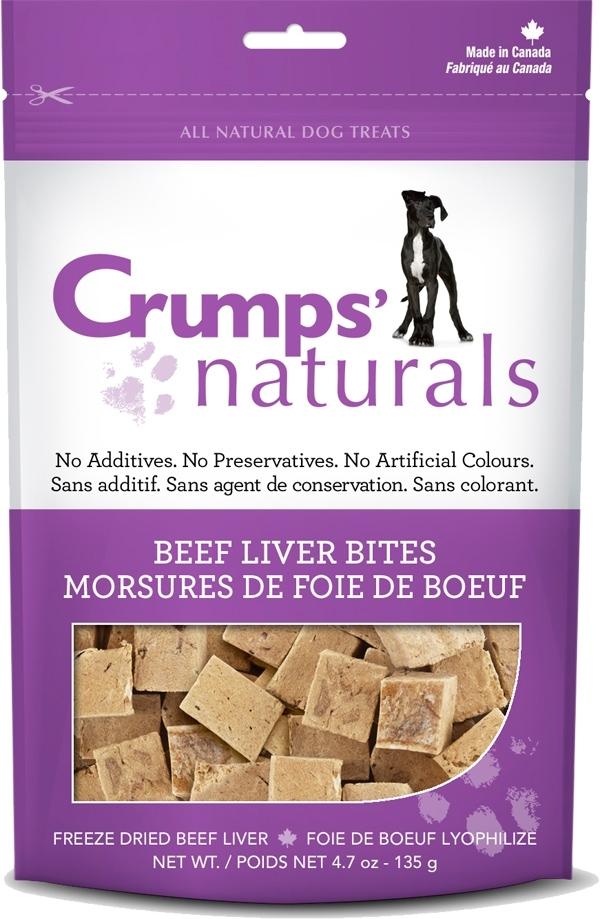 Crumps' Naturals Beef Liver Bites Dog Treats, 2.3-oz