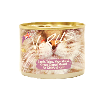 VeRUS Grain Free New Zealand Lamb, Tripe, Vegetable and Green Lipped Mussel Formula Canned Cat Food, 6.5-oz