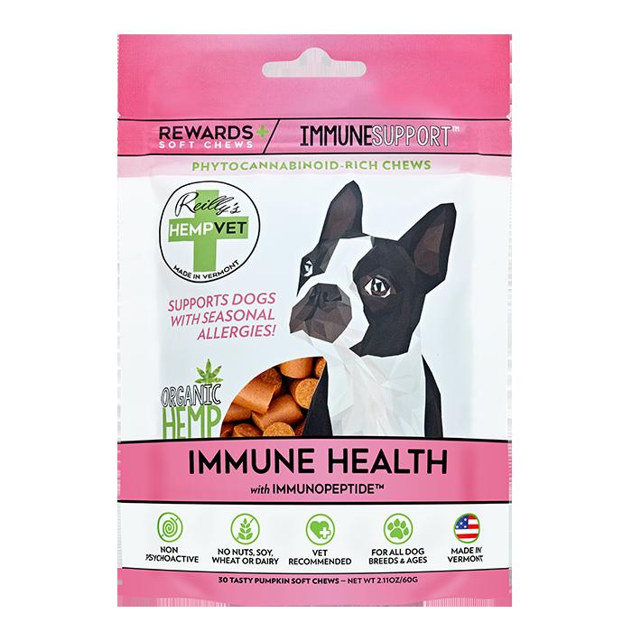 Reilly's H-Vet Rewards+ Functional Immune Health Dog Chews, 2.11-oz