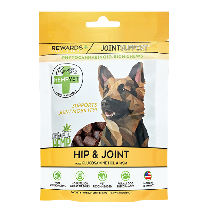 Reilly's H-Vet Rewards+ Functional Hip & Joint Support Dog Chews, 2.11-oz