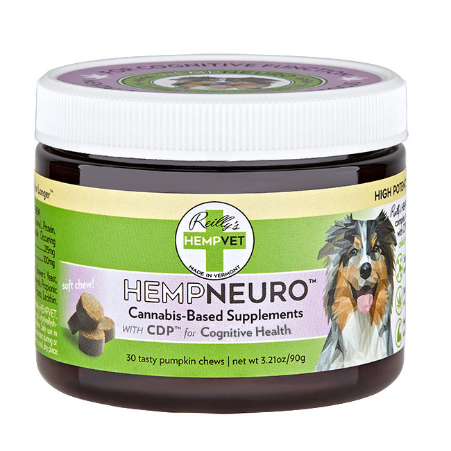 Reilly's H-Vet Neuro High Potency Neurological Health Nutritional Dog Chews, 3.21-oz