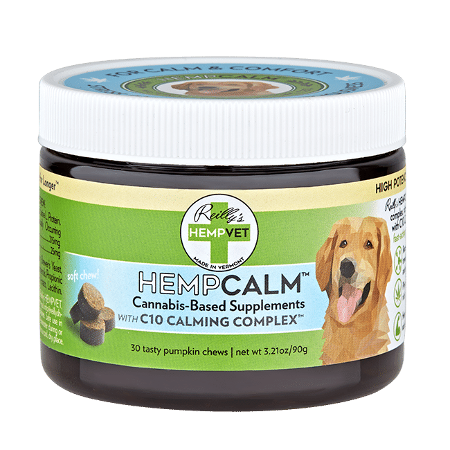 Reilly's H-Vet Calm High Potency Calming Nutritional Dog Chews, 3.21-oz
