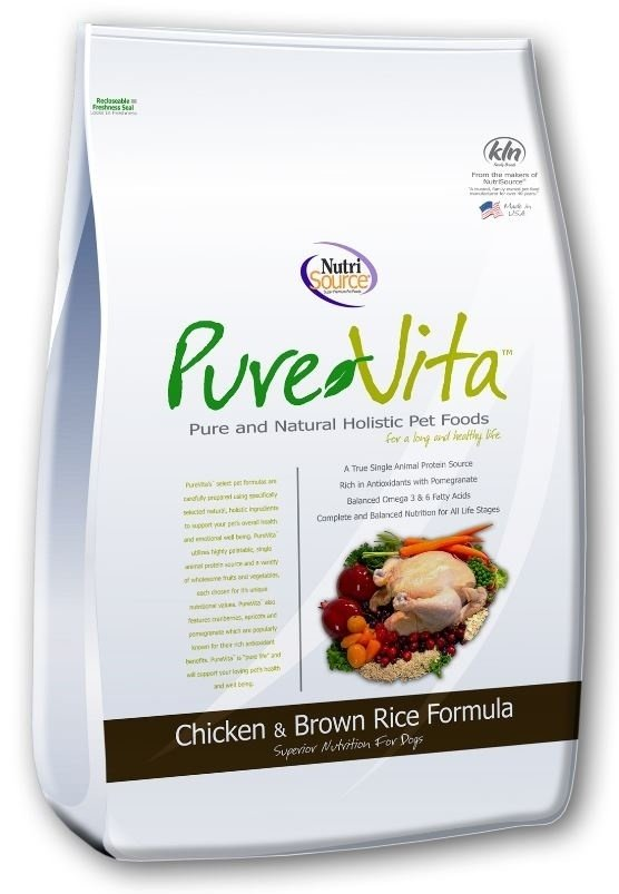 PureVita Chicken And Brown Rice Dry Dog Food, 25-lb