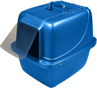 Van Ness Enclosed Cat Litter Pan, X-Large Blue