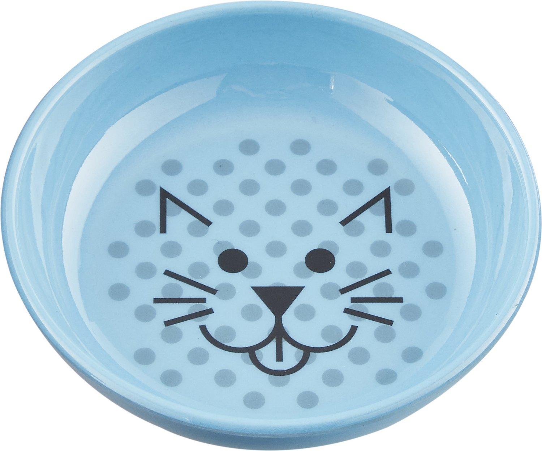Van Ness Ecoware Non-Skid Cat Dish, Blue, 8-oz