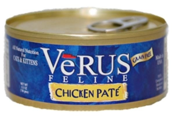 VeRUS Grain Free Chicken Pate Formula Canned Cat Food, 5.5-oz