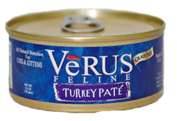 VeRUS Grain Free Turkey Pate Formula Canned Cat Food, 5.5-oz
