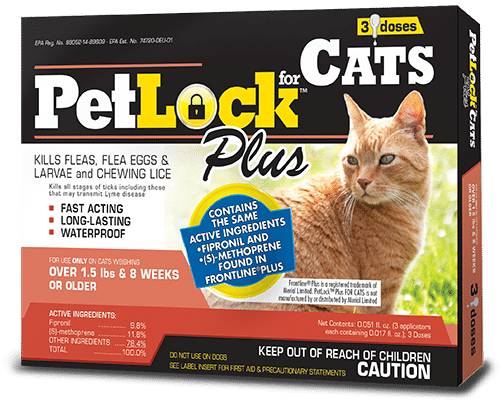 PetLock Plus Flea Prevention for Cats