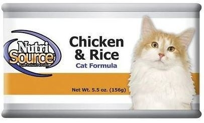 NutriSource Cat and Kitten Chicken and Rice Canned Cat Food, 5-oz, case of 12