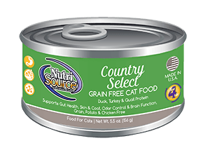 NutriSource Grain Free Country Select Canned Cat Food, 5.5-oz, case of 12