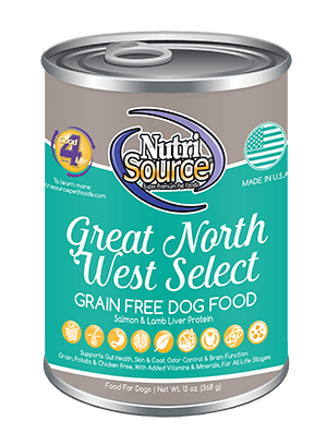 NutriSource Grain Free Great Northwest Select Canned Dog Food, 13-oz
