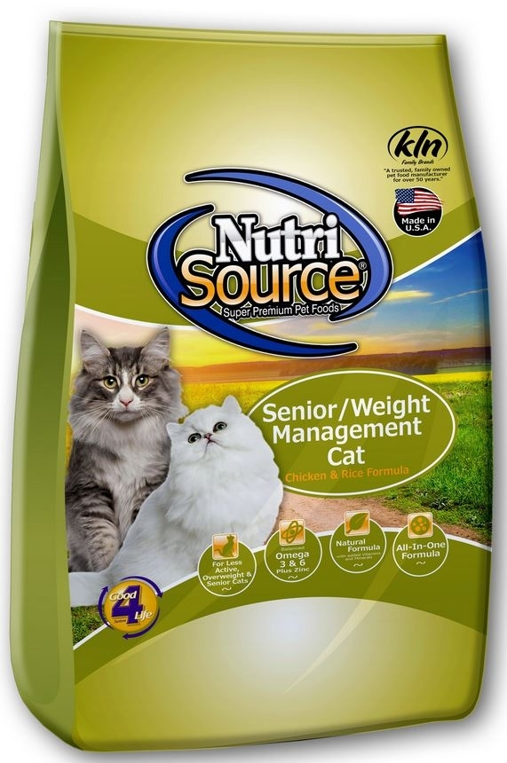 NutriSource Senior Weight Management Chicken and Rice Dry Cat Food, 1.5-lb