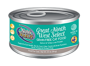 NutriSource Grain Free Great Northwest Select Canned Cat Food, 5.5-oz