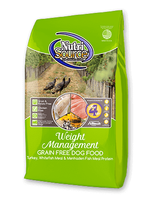 NutriSource Grain Free Weight Management Dry Dog Food, 15-lb