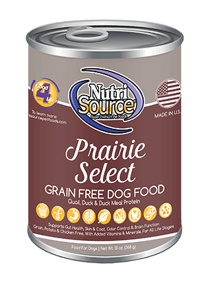 NutriSource Grain Free Prairie Select Canned Dog Food, 13-oz, case of 12
