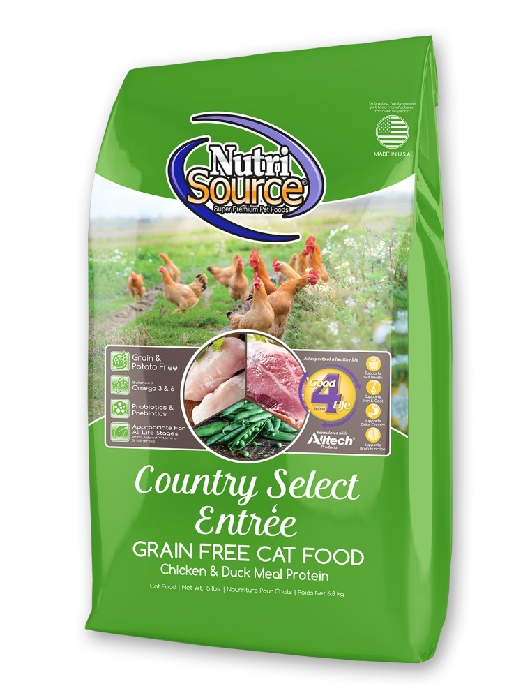 NutriSource Grain Free Country Select Entree Dry Cat Food, 6.6-lb