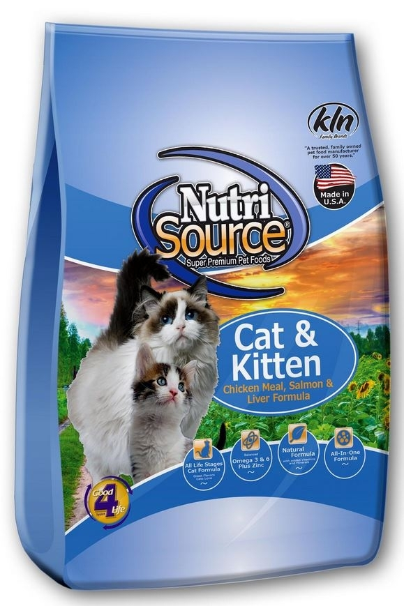 NutriSource Cat and Kitten Chicken Salmon and Liver Dry Cat Food, 6.6-lb
