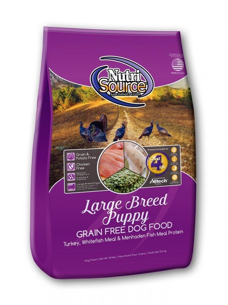 NutriSource Grain Free Large Breed Puppy Recipe Dry Dog Food