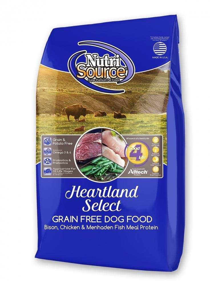 NutriSource Grain Free Heartland Select with Bison Dry Dog Food, 5-lb