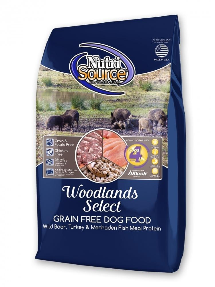 NutriSource Grain Free Woodlands Dry Dog Food, 15-lb