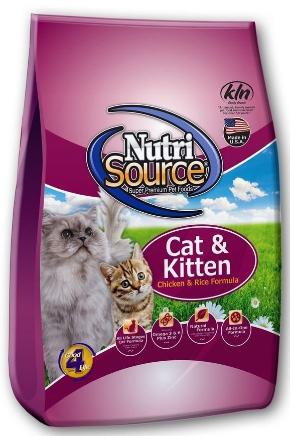 NutriSource Cat and Kitten Chicken and Rice Dry Cat Food, 6.6-lb