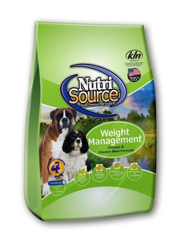 NutriSource Weight Management Chicken and Chicken Meal Dry Dog Food, 30-lb