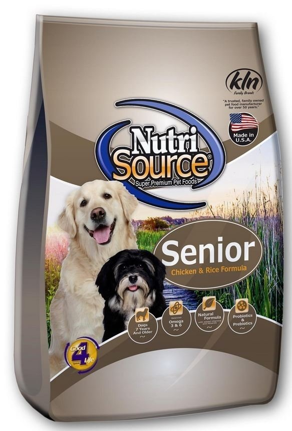 NutriSource Senior Chicken and Rice Dry Dog Food, 30-lb