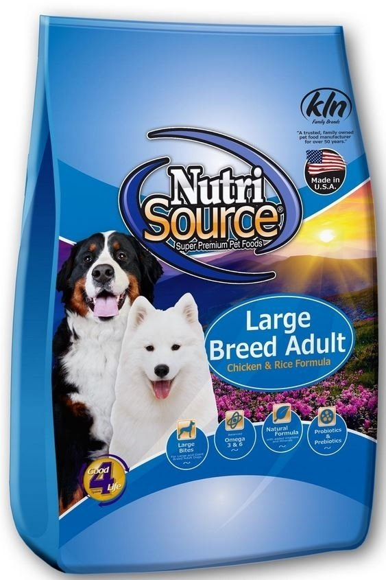 NutriSource Adult Large Breed Chicken and Rice Dry Dog Food Image