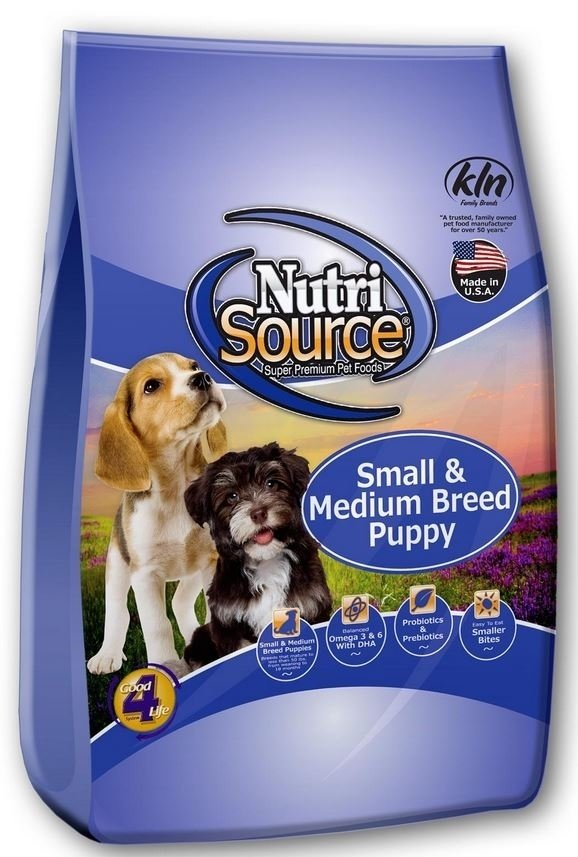 NutriSource Small and Medium Breed Puppy Chicken and Rice Dry Dog Food, 15-lb bag