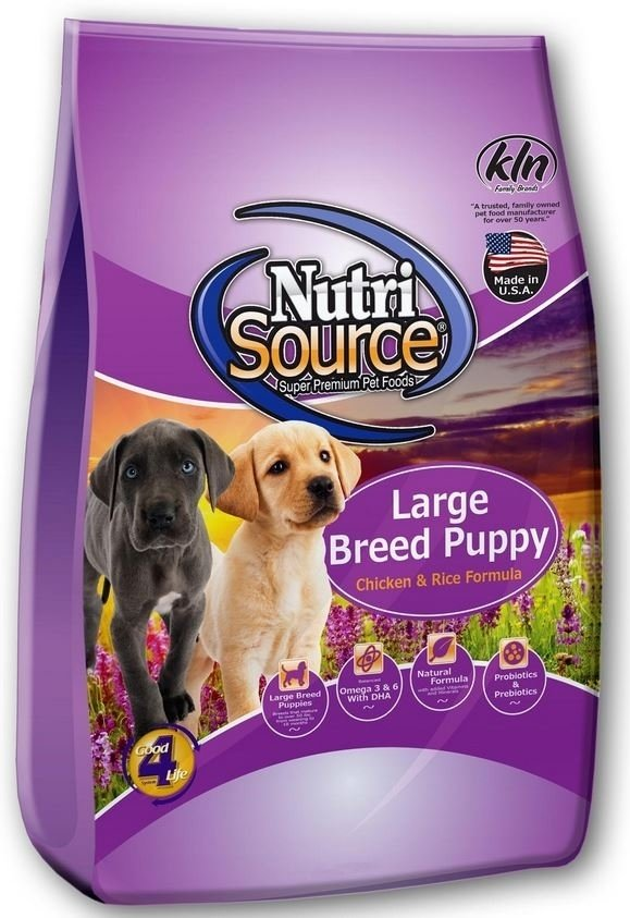 NutriSource Large Breed Puppy Chicken and Rice Dry Dog Food, 30-lb