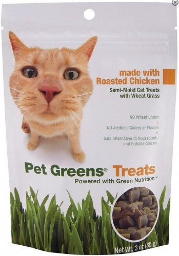 BellRock Cat Greens Semi Moist Roasted Chicken Cat Treats Size: 3-oz