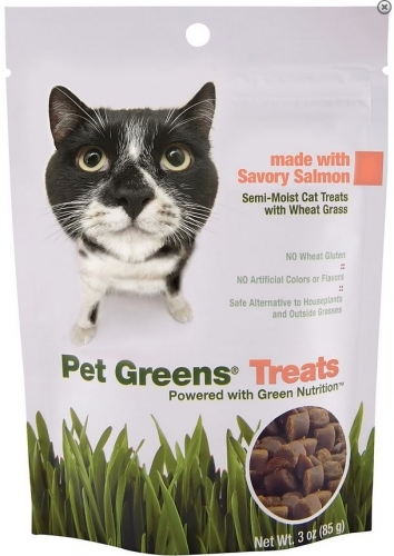 BellRock Cat Greens Semi Moist Salmon Cat Treats Size: 3-oz