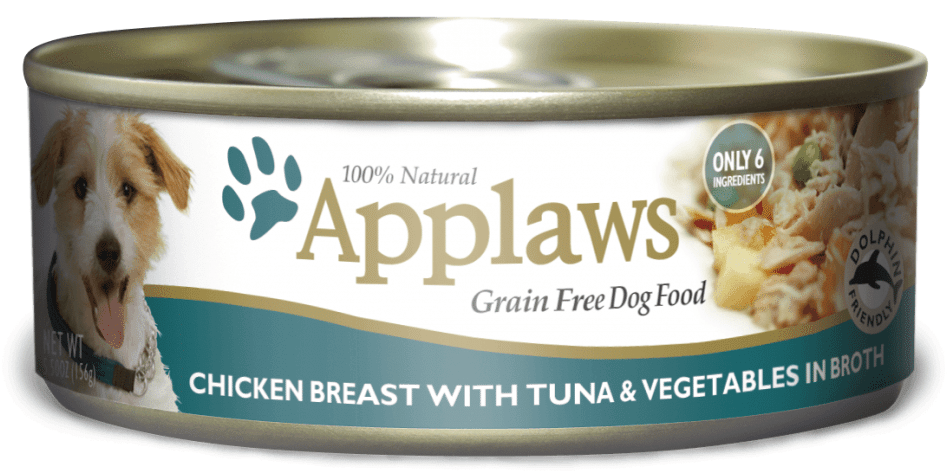 Applaws Grain Free Chicken Breast with Tuna and Vegetables Canned Dog Food Image