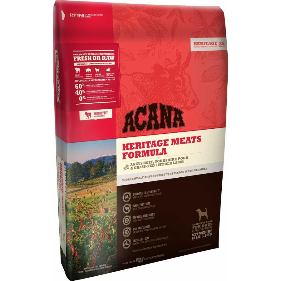 ACANA Heritage Meats Formula Grain Free Dry Dog Food, 13-lb