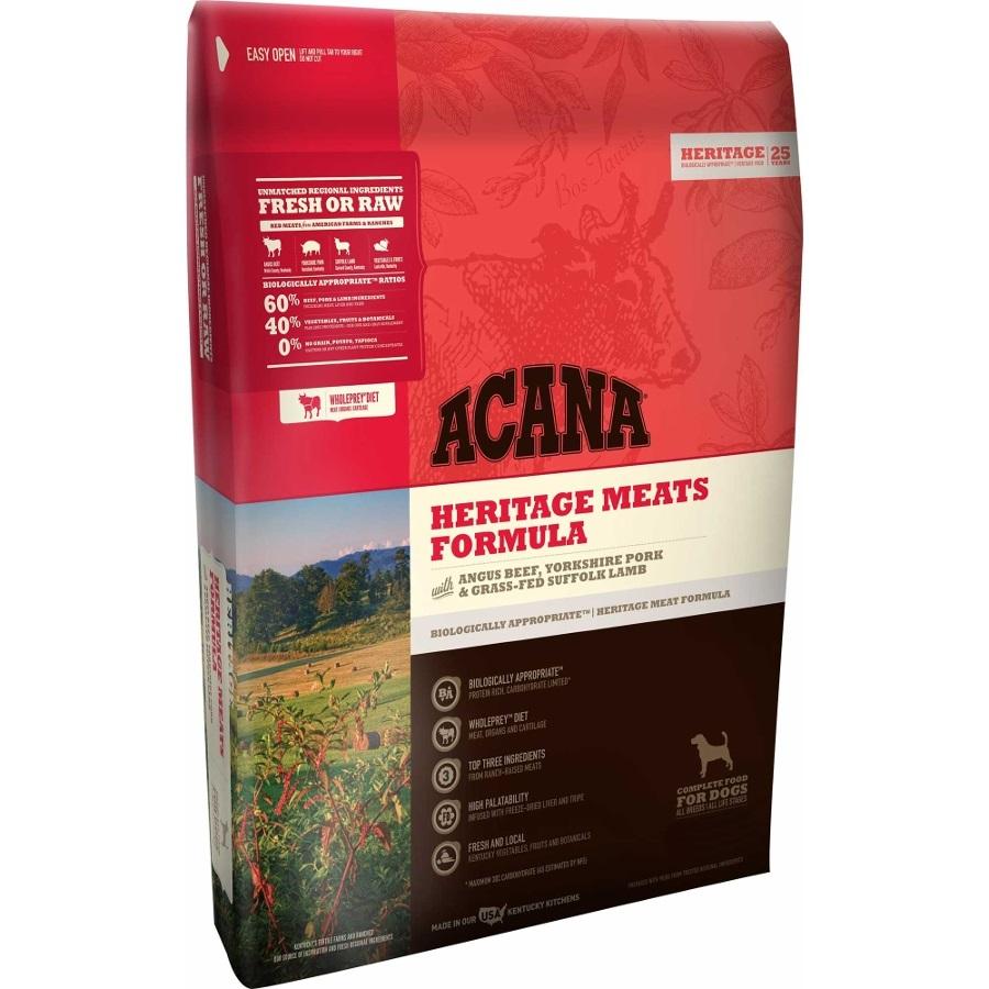 ACANA Heritage Meats Formula Grain Free Dry Dog Food, 25-lb Size: 25-lb