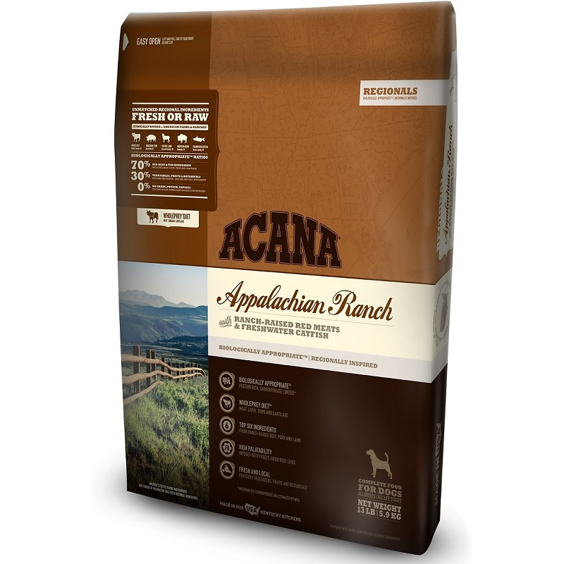 ACANA Regionals Appalachian Ranch Grain Free Dry Dog Food, 13-lb