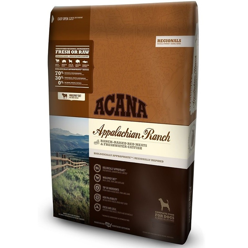 ACANA Regionals Appalachian Ranch Grain Free Dry Dog Food, 25-lb