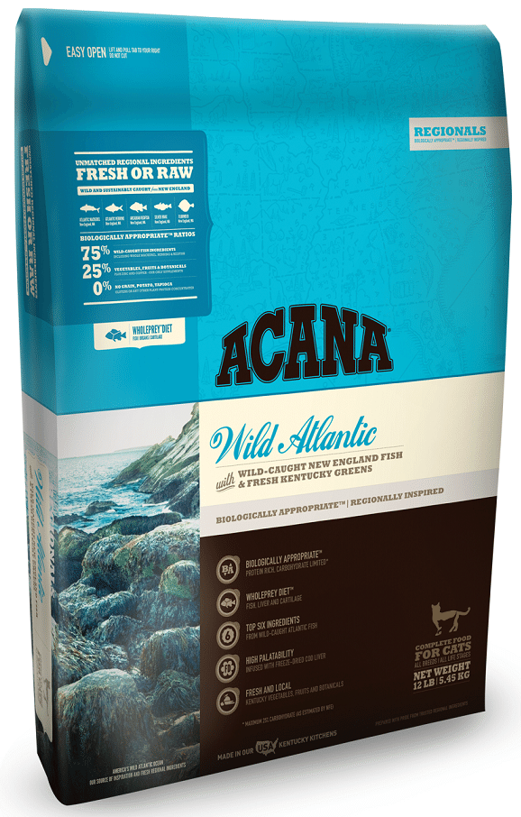 ACANA Regionals Wild Atlantic Formula Cat and Kitten Dry Cat Food, 4-lb