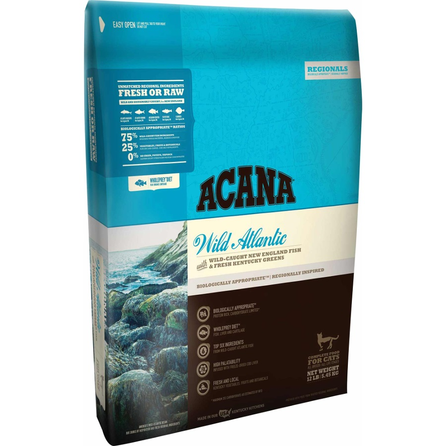 ACANA Regionals Wild Atlantic Formula Cat and Kitten Dry Cat Food, 12-lb