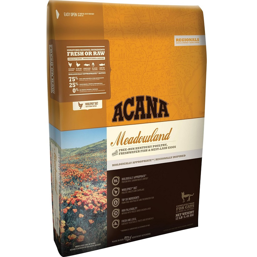 ACANA Regionals Meadowland Formula Cat and Kitten Dry Cat Food, 12-lb