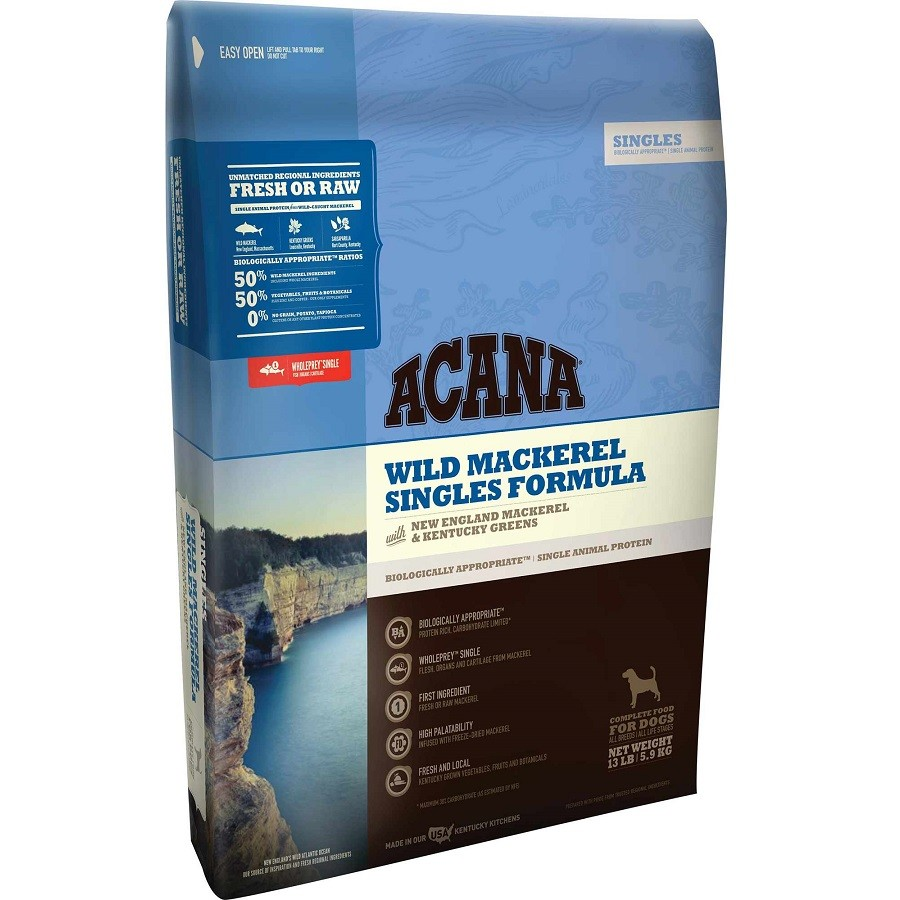 ACANA Singles Limited Ingredient Diet Wild Mackerel Formula Dry Dog Food, 4.5-lb