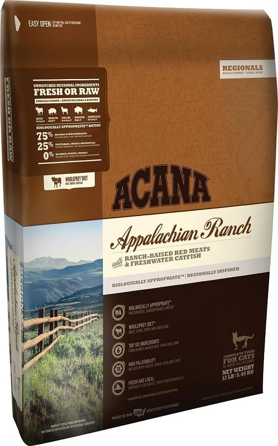 ACANA Regionals Appalachian Ranch Cat and Kitten Dry Cat Food, 12-lb