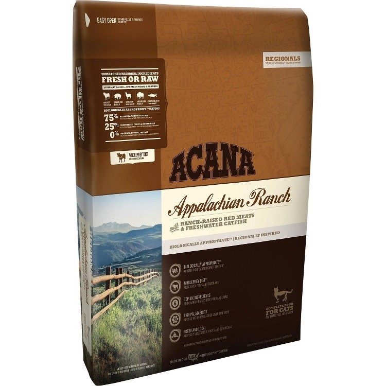 ACANA Regionals Appalachian Ranch Cat and Kitten Dry Cat Food, 4-lb