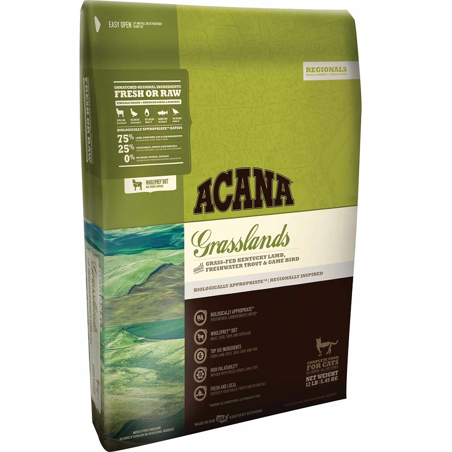 ACANA Regionals Grasslands Formula Cat and Kitten Dry Cat Food, 12-lb