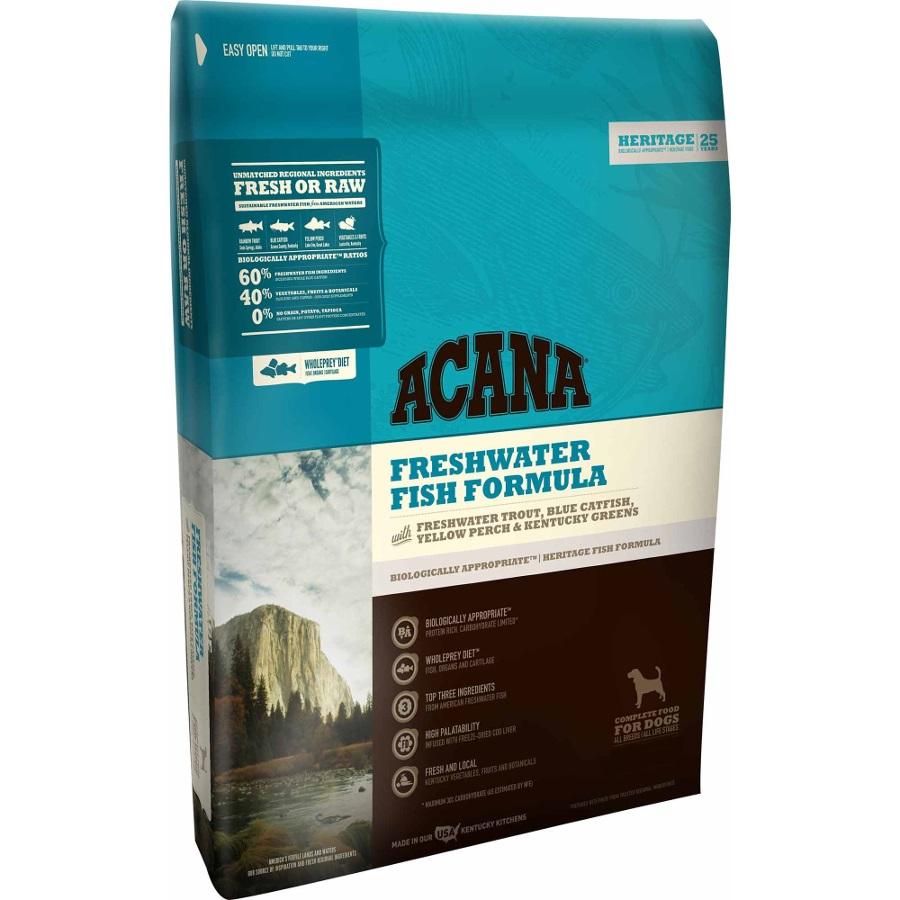 ACANA Heritage Freshwater Fish Formula Grain Free Dry Dog Food, 4.5-lb